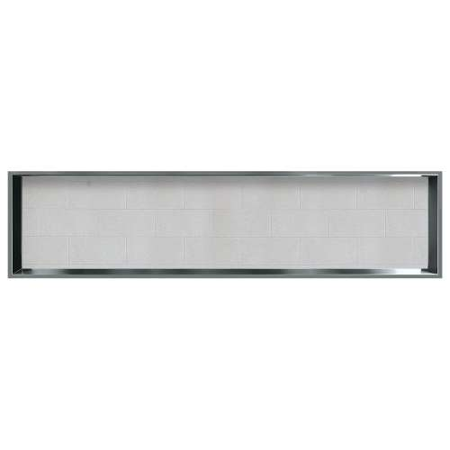 58.5-in. Recessed Horizontal Storage Pod Rear Lined in Tiled Grey Stone