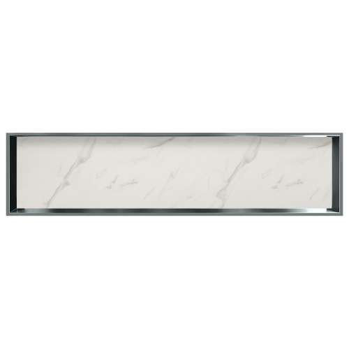 58.5-in. Recessed Horizontal Storage Pod Rear Lined in Pearl Stone