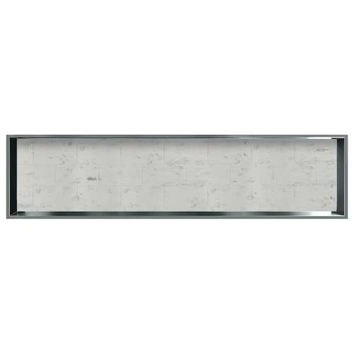 58.5-in. Recessed Horizontal Storage Pod Rear Lined in Tiled Carrara