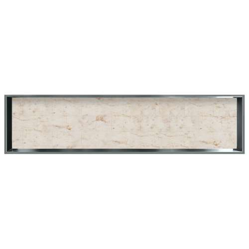 58.5-in. Recessed Horizontal Storage Pod Rear Lined in Tiled Butterscotch