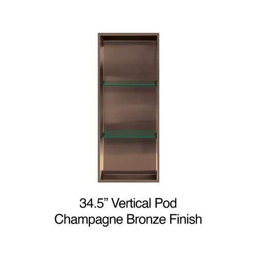 34.5-in. Recessed Vertical Storage Pod, in Champagne Bronze