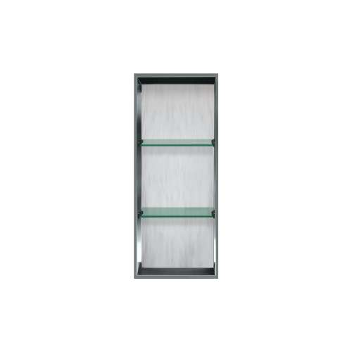 34.5-in. Recessed Vertical Storage Pod Rear Lined in Bellagio