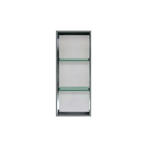 34.5-in. Recessed Vertical Storage Pod Rear Lined in Grey Stone