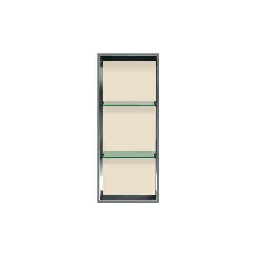 34.5-in. Recessed Vertical Storage Pod Rear Lined in Biscuit