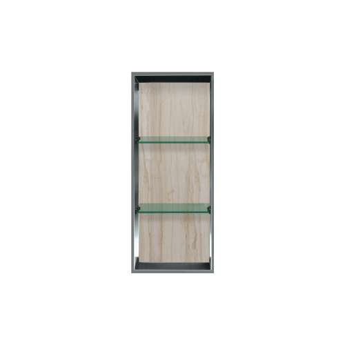 34.5-in. Recessed Vertical Storage Pod Rear Lined in Jupiter Stone