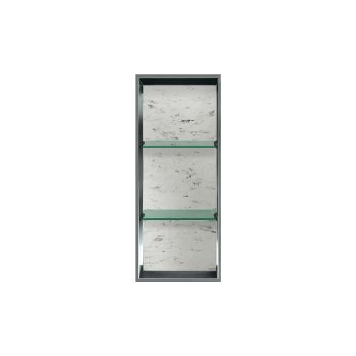 34.5-in. Recessed Vertical Storage Pod Rear Lined in Carrara