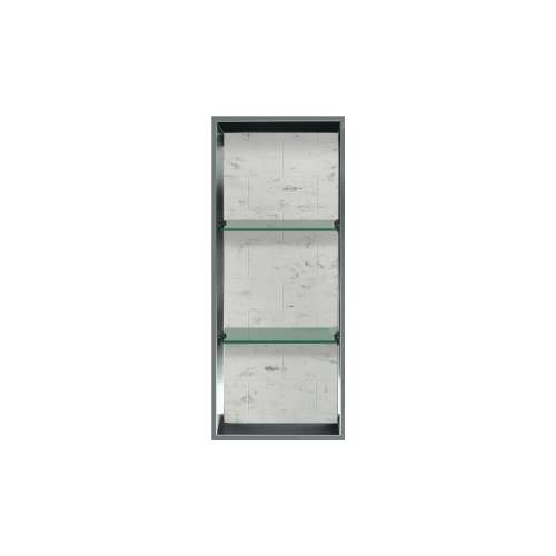 34.5-in. Recessed Vertical Storage Pod Rear Lined in Tiled Carrara