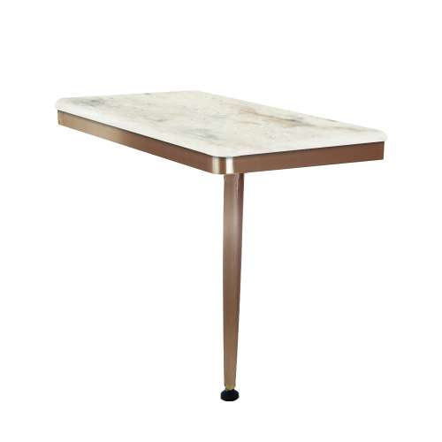 24in x 12in Right-Hand Shower Seat with PVD Coated Champagne Bronze Frame and Leg, in Butterscotch