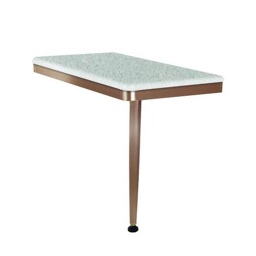 24in x 12in Right-Hand Shower Seat with PVD Coated Champagne Bronze Frame and Leg, in Grey Stone