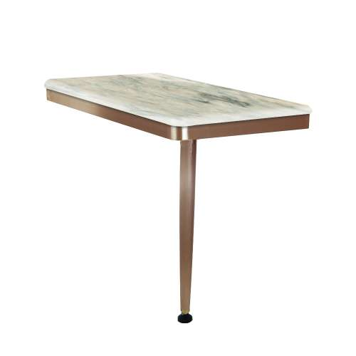 24in x 12in Right-Hand Shower Seat with PVD Coated Champagne Bronze Frame and Leg, in Creme
