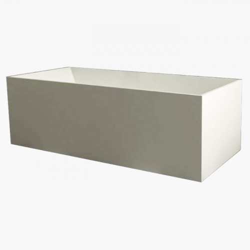 Samuel Mueller Parker 66-in x 28-in Resin Stone Freestanding Bathtub with end drain, in White