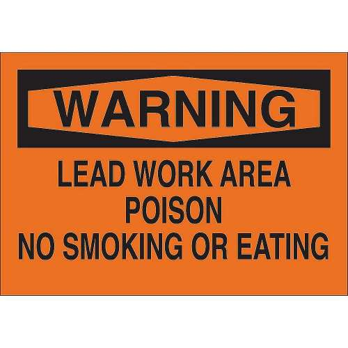 Warning Sign 10X14-in Plstc 25741 - Lead Work Area Sign
