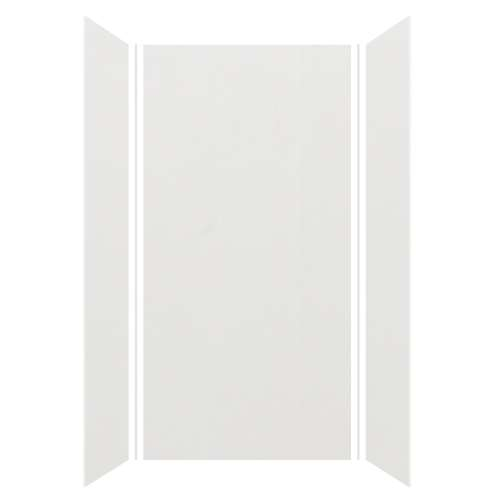 Silhouette 48-in x 36-in x 96-in Glue to Wall 3-Piece Shower Wall Kit, Grey