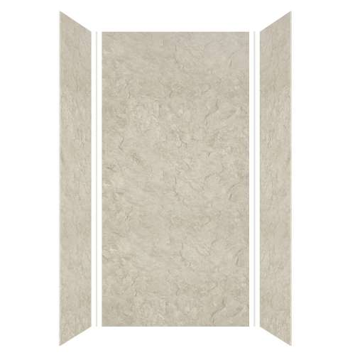 Silhouette 48-in x 36-in x 96-in Glue to Wall 3-Piece Shower Wall Kit, Tundra