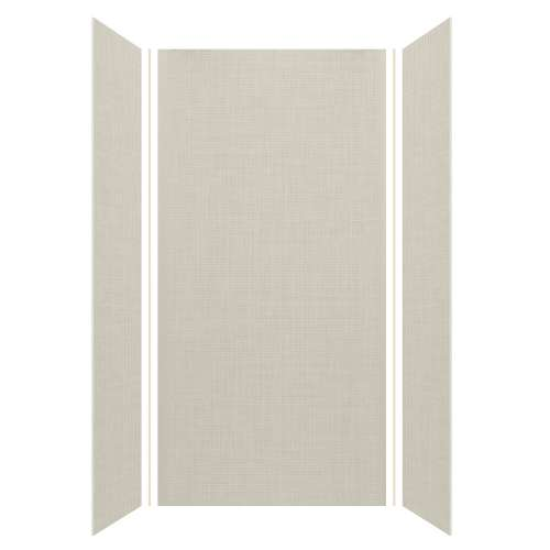 Silhouette 48-in x 36-in x 96-in Glue to Wall 3-Piece Shower Wall Kit, Linen