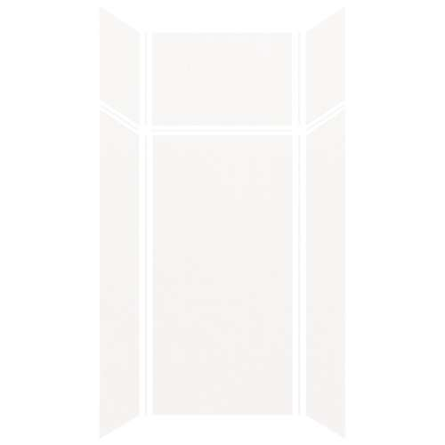 Silhouette 36-in x 36-in x 72/24-in Glue to Wall 3-Piece Transition Shower Wall Kit