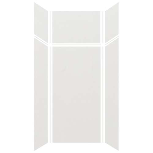 Silhouette 36-in x 36-in x 72/24-in Glue to Wall 3-Piece Transition Shower Wall Kit, Grey