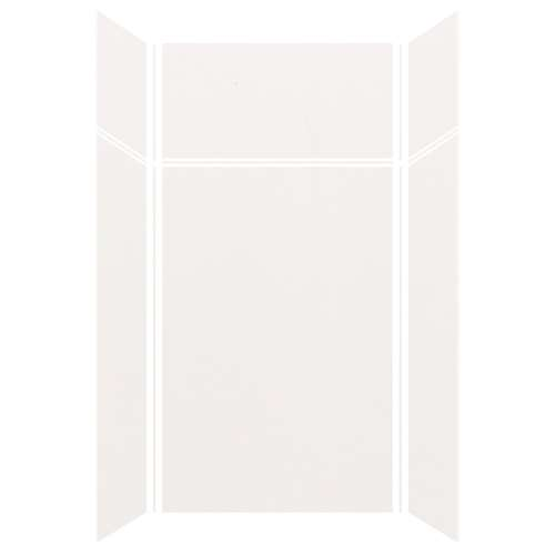 Silhouette 48-in x 36-in x 72/24-in Glue to Wall 3-Piece Transition Shower Wall Kit, White