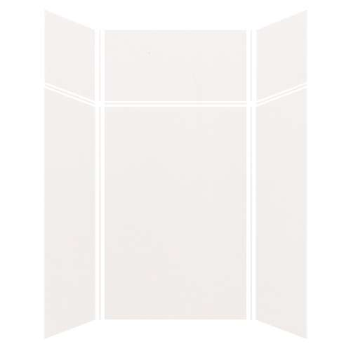 Silhouette 48-in x 48-in x 72/24-in Glue to Wall 3-Piece Transition Shower Wall Kit