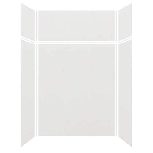 Silhouette 60-in x 32-in x 72/24-in Glue to Wall 3-Piece Transition Shower Wall Kit, Grey