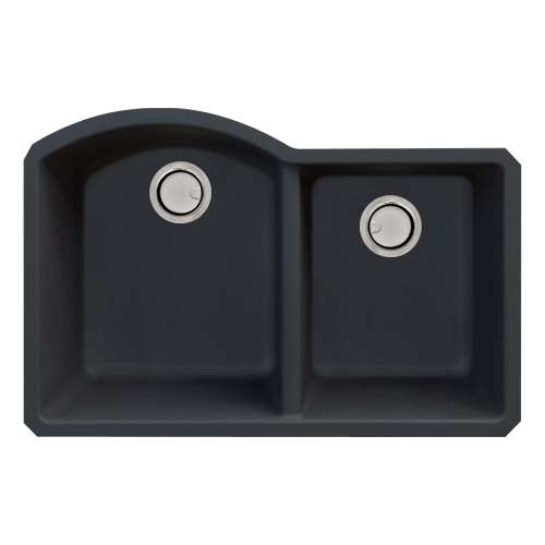 Samuel Mueller Adagio Granite 31-in Kitchen Sink Kit with Grids, Strainers and Drain Installation Kit in Black