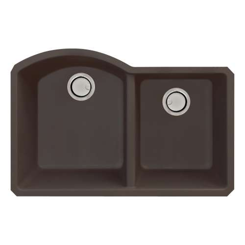 Samuel Mueller Adagio Granite 31-in Kitchen Sink Kit with Grids, Strainers and Drain Installation Kit in Espresso