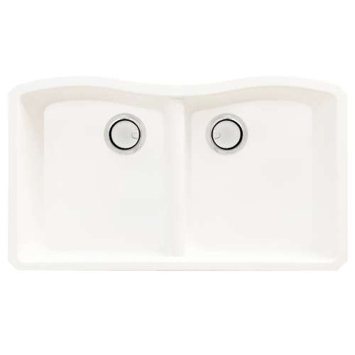 Samuel Mueller Adagio Granite 32-in Kitchen Sink Kit with Grids, Strainers and Drain Installation Kit - K-SMAUDE3219