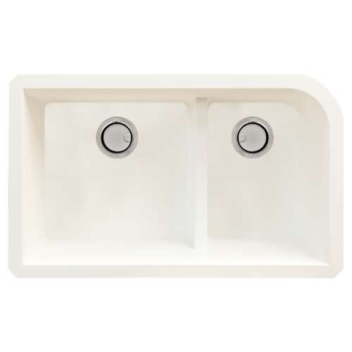 Samuel Mueller Renton Granite 31-in Undermount Kitchen Sink Kit with Grids, Strainers and Drain Installation Kit in White