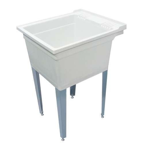 Samuel Mueller Compostite 22-in Floor Mounted Laundry Tub with Steel Legs