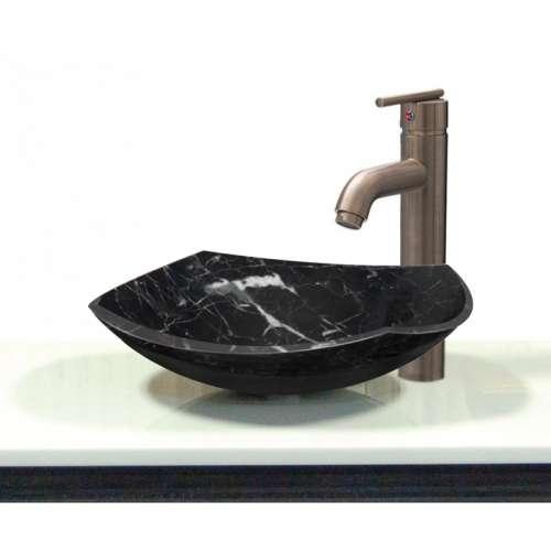 Samuel Mueller Medford Joelle Marble 15.75-in Vessel Sink