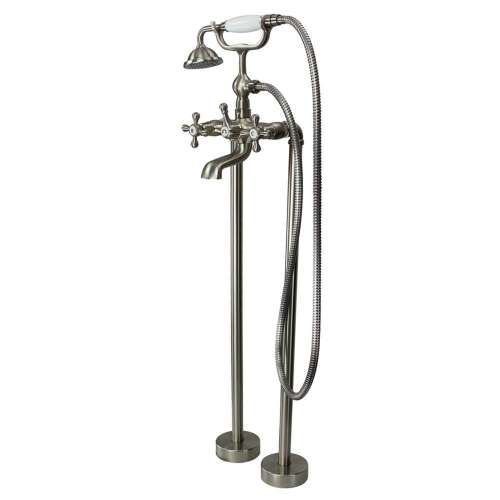Samuel Mueller Callado Free Standing Tub Filler With Hand Shower, Brushed Nickel