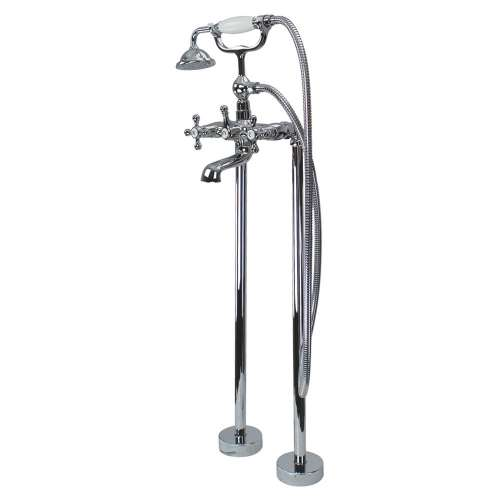Samuel Mueller Callado Free Standing Tub Filler With Hand Shower, Polished Chrome