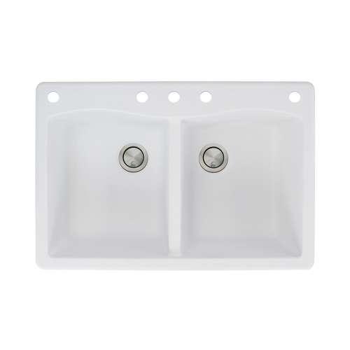 Samuel Mueller Adagio Granite 33-in Drop-in Kitchen Sink - SMATDE3322-CABDE