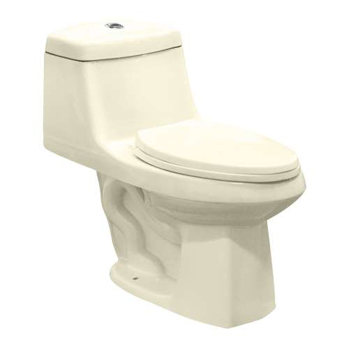 Samuel Mueller Jersey 1-Piece Elongated Vitreous China Dual Flush 1.6/1.0 gpf Toilet with toilet seat