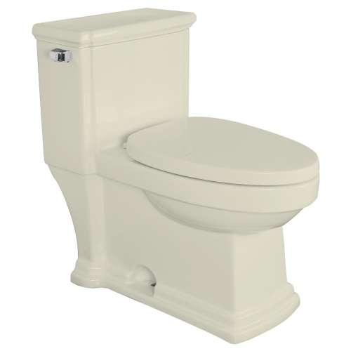 Samuel Mueller Hillman 1-Piece Elongated Vitreous China 1.28 gpf Toilet with toilet seat, Biscuit