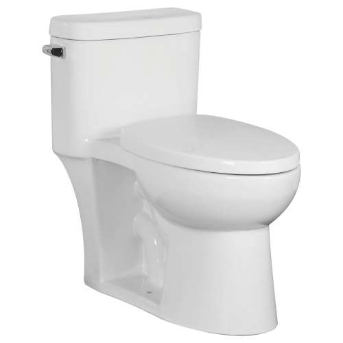 Samuel Mueller Girard 1-Piece Elongated Vitreous China 1.28 gpf Toilet with toilet seat, White