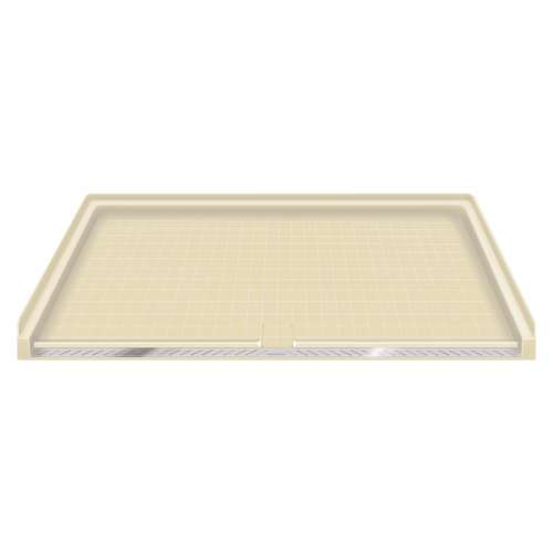 Samuel Mueller Solid Surface 63-in x 38-in Barrier Free Shower Base with Center Drain