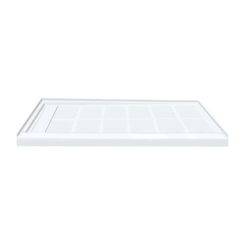 Samuel Mueller Linear 60-in x 36-in Rectangular Alcove Shower Base with Left Hand Drain - In Multiple Colors - SMFL6036L-M