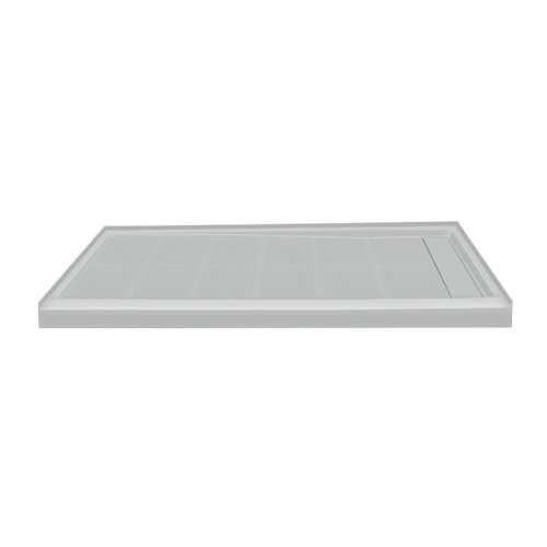 Samuel Mueller Linear 60-in x 36-in Rectangular Alcove Shower Base with Right Hand Drain