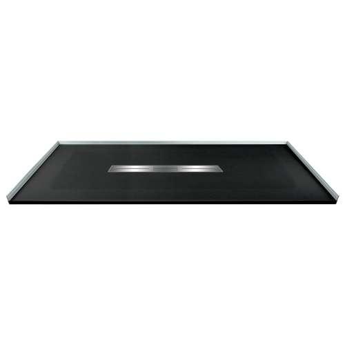 60-in x 36-in Zero Threshold Shower Base with Center Drain, in Black