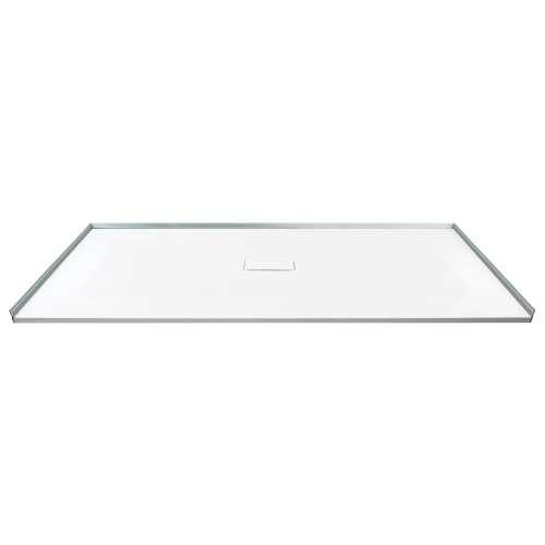 60-in x 40-in Zero Threshold Shower Base with Center Drain, in White