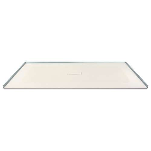 60-in x 40-in Zero Threshold Shower Base with Center Drain, in Cameo