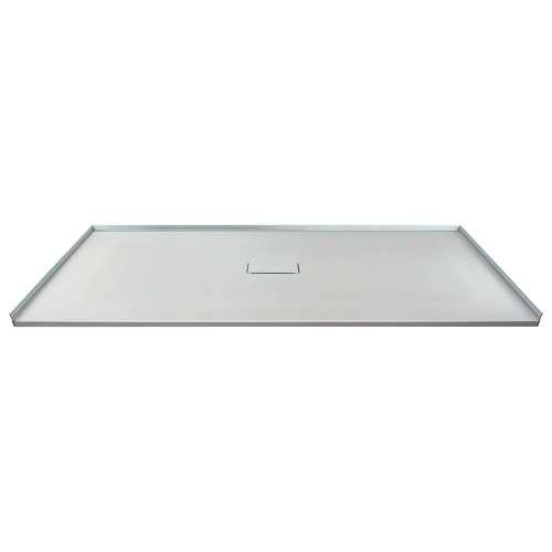 60-in x 40-in Zero Threshold Shower Base with Center Drain, in Grey