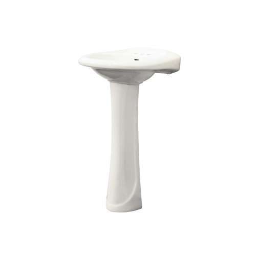 Samuel Mueller Millwood Vitreous China 21-in Pedestal Bowl Only with 4-in CC Faucet Holes - SML-1414