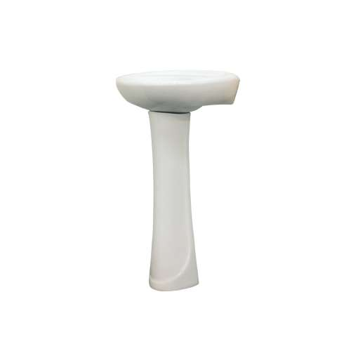 Samuel Mueller Millwood Petite Vitreous China Lavatory Sink with 4-in centers for use with TP-1440 Pedestal Leg, in White