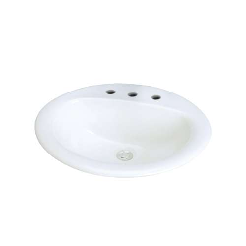 Samuel Mueller Ashland Vitreous China 20-in Drop-in Lavatory with 8-in CC Faucet Holes