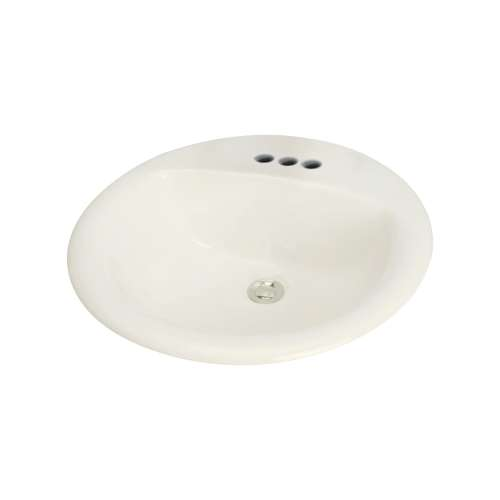 Samuel Mueller Parma Vitreous China 20-in Round Drop-in Lavatory with 4-in CC Faucet Holes