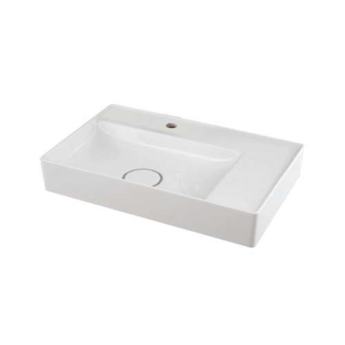 Samuel Mueller Madrid Vitreous China 23-in Rectangular Vessel Sink with Single Hole
