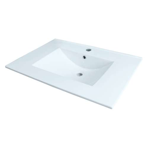 Samuel Mueller Jacob 25-in Vitreous China with Integrated Sink - SML-1691