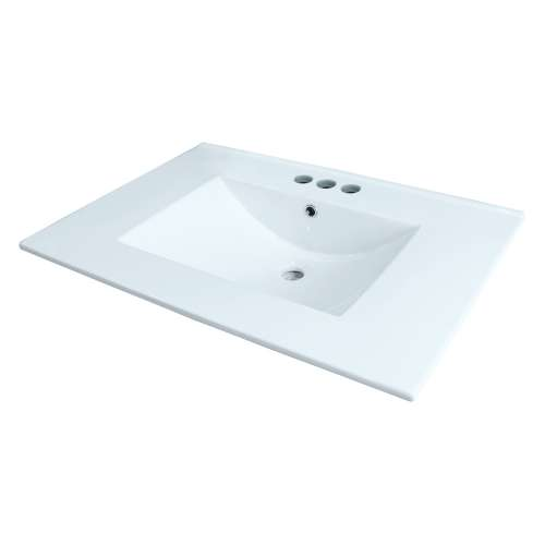 Samuel Mueller Jacob 25-in Vitreous China with Integrated Sink - 4cc Faucet Holes